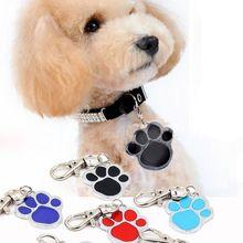 1 pcs neuen hund pfote stil hund Namen hundemarke Haustiere personalausweis für haustiere(China (Mainland))