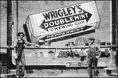 Wrigley's Chewing Gum  Wrigley's Chewing Gum has been with us for over 100 years now, and it is still readily available in most shops that sell gum. Throughout the time they have been around they have ran many advertising campaigns aimed at all kinds of different people, as you can see below!  1900