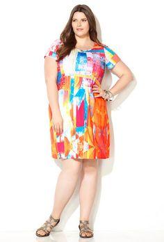 Geo Sublimation Short Sleeve Dress,