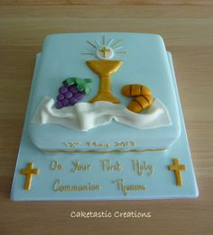 1st holy communion cakes - Google Search