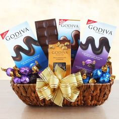 Give the gift of delicious chocolate to show someone you care. This gift set includes a sampling of Godiva chocolate treats including truffles a chocolate bar and chocolate dipped cashews. Dark Chocolate Truffles, Chocolate Treats, Chocolate Box, Chocolate Dipped, Delicious Chocolate, Gift Crates, Italian Hot, Butter Toffee, Christmas Chocolate