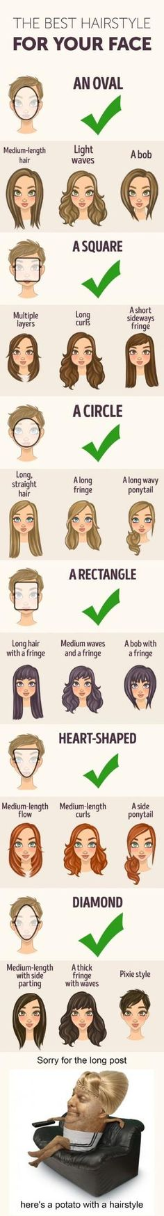 The best hairstyle for your face shape. by thelma