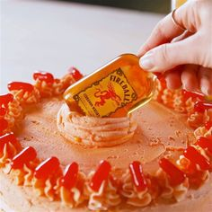 Tag the person who'd DIE for a Fireball birthday cake 🔥 Fireball Cake Recipe, Fireball Cupcakes, Fireball Recipes, Drinks Alcohol Recipes, Cinnamon Cupcakes, Cooking Tv, Recipe Mix, Dessert Bars, Themed Cakes