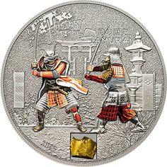 2015 CK Modern Commemorative SAMURAI HISTORY Original Armor 1 Oz Silver Proof Coin 5$ Cook Islands 2015 Dollar Perfect Uncirculated (DV)❤Thank❤You✿I❤❤❤You❤