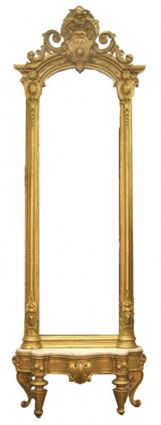 Gold, gilded, antique, pier mirror