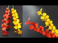 Origami decoration flowers diy paper ideas for 2019 Simple Paper Flower, Paper Flowers Craft, Flower Crafts, Diy Flowers, Flower Decorations, Flower Ideas, Paper Vase, Diy Paper, Paper Crafts