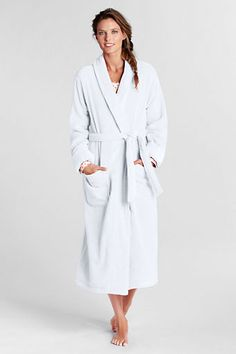 a4144b4830 Women s Cotton Terry Midcalf Robe from Lands  End Lands End