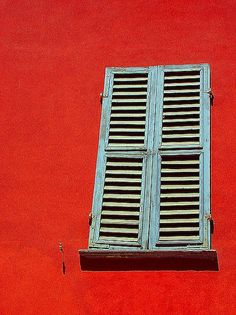 Red Wall and Window by Gitart