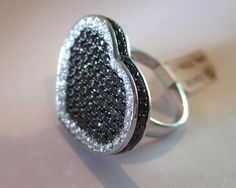 Hey, I found this really awesome Etsy listing at https://www.etsy.com/listing/223580928/18k-black-white-diamonds-ring