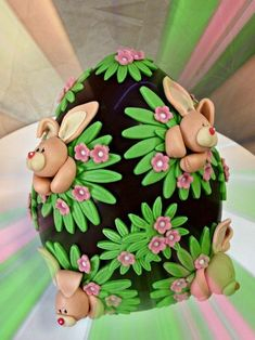 Cupcakes Easter Decoration Sticks 16 Ideas For 2019 Sugar Eggs For Easter, Easter Bunny Cake, Easter Cupcakes, Easter Cookies, Easter Treats, Easter Eggs, Fondant Cakes, Cupcake Cakes, Easter Deserts