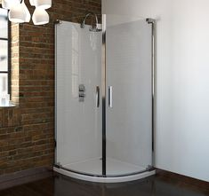 This Frameless Quadrant Shower Enclosure offers a comfortable and stylish showering environment. Incredible enclosures at amazing prices. Quadrant Shower Enclosures, Shower Cubicles, Shower Doors, Tall Cabinet Storage, The Unit, House, Furniture, Bathrooms, Home Decor