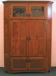 1000 ideas about corner tv cabinets on pinterest corner for Mission style corner hutch