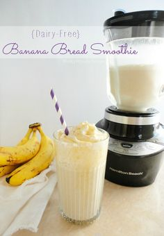Banana Bread Dairy Free Smoothie Recipe - wonkywonderful.com #smoovember #giveaway