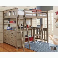 Shop a great selection of Rosebery Kids Full Wood Loft Bunk Bed Dresser Driftwood. Find new offer and Similar products for Rosebery Kids Full Wood Loft Bunk Bed Dresser Driftwood. Trundle Bed With Storage, Bunk Bed With Desk, Loft Bunk Beds, Modern Bunk Beds, Bunk Beds With Stairs, Kids Bunk Beds, Desk Bed, Modern Bedroom, Loft Beds For Teens