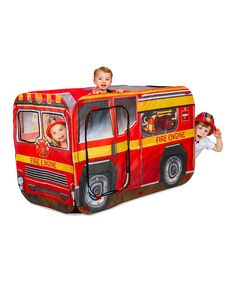 Look at this Reversible Fire Engine/School Bus Tent on #zulily today!