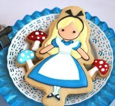 ALICE IN WONDERLAND COOKIES via tastykitchen.com