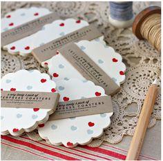 Adorable letterpress coasters