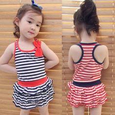 Aliexpress.com : Buy 2014 summer bow girls clothing baby child sleeveless vest one piece dress qz 0313 on Kids Fashion Clothing - Worldwide ...