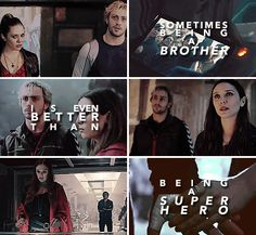 Sometimes being a brother is even better than being a superhero - Marc Brown #marvel