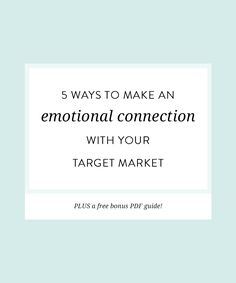 Life and Business // 5 ways to make an emotional connection with your target market — Nesha Designs Business Branding, Business Marketing, Email Marketing, Social Media Marketing, Digital Marketing, Marketing Strategies, Marketing Ideas, Content Marketing, Creative Business