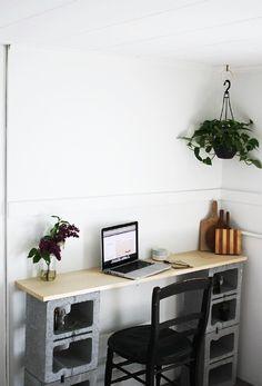 #Escrivaninha de blocos de concreto! #jmdiyteen