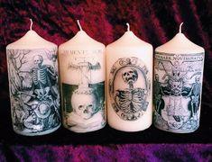 Memento Mori Gothic Death Candles