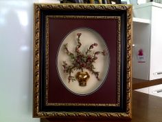 antique embroidery potted