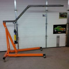 Custom Made Garage I Beam Rotating Jib Crane Shop