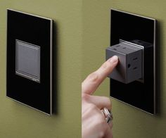 Home Design: Hide the electrical outlets when not in use by installing these pop out outlets. Their innovative design is perfect for a modern and minimalistic home - when. Interior Design Minimalist, Modern House Design, Duplex Design, Modern Minimalist, Clever Inventions, Do It Yourself Design, Design Apartment, Home Gadgets, Kitchen Gadgets