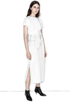 3.1 Phillip Lim Corseted Denim Skirt