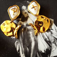 Vintage fish earrings. Made in France by Rimbaud. On our website here: http://www.mdvii.com/products/rimbaud-vintage-french-earrings  #costumejewelry #summerstyle  #mdvii