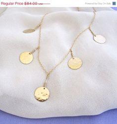 ON SALE 14K Gold Filled Satellite Necklace - Newsroom inspired