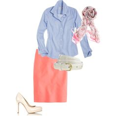 J. Crew Work Outfit.  Just picked this up shopping...love the colors.