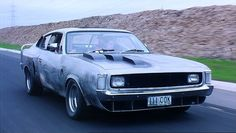 "Chrysler Valiant Charger in ""Metal Skin"" Australian Muscle Cars, Aussie Muscle Cars, Chrysler Valiant, Old Cars, Mopar, Custom Cars, Cars And Motorcycles, Super Cars, Charger"