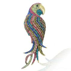 4.7 Inch Vintage Style Gold-Tone Parrot Brooch Austrian Crystal Multicolor Ever Faith,http://www.amazon.com/dp/B00ASJWKQA/ref=cm_sw_r_pi_dp_Lpnhtb14PC3558TD