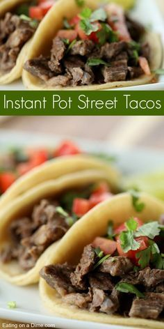 Instant pot Carne Asada Tacos - Pressure Cooker - Ideas of Pressure Cooker - Do you need a quick meal idea? Instant Pot Street Tacos Recipe will impress the entire family. Pressure cooker street tacos are tender and delicious. Carne Asada, Mexican Food Recipes, Beef Recipes, Cooking Recipes, Healthy Recipes, Quick Recipes, Delicious Recipes, Cheap Recipes, Gastronomia
