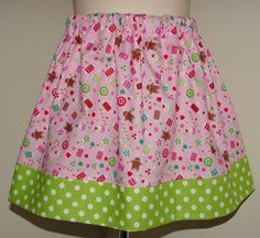 Christmas Candy Skirt Riley Blake 12 18 2 3 4 5 by SweetnSassyKids, $15.00
