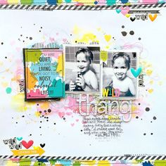 Bella Blvd Color Chaos and Just Add Color collections. Wild Thang layout by creative team member Missy Whidden.