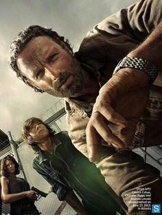 The Walking Dead - Season 4 - actors Lauren Cohan, Chandler Riggs, Andrew Lincoln  #TheWalkingDead season 4 2013 promo photo