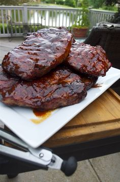 Oven baked bbq pork steaks recipe sauces ovens and - Steak d espadon grille sauce combava ...
