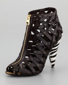 d1159808081 Women s Hand-Stitched Lattice Leather Bootie - Tom Ford from Neiman Marcus