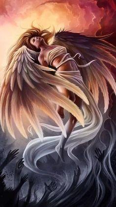 Male Angels, Angels And Demons, Anime Fantasy, Dark Fantasy Art, Wattpad, Guardian Angel Tattoo, Angels Tattoo, Anime Angel Girl, Music Tattoo Designs
