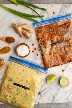 4 marinades express (à l'asiatique, chili & cumin, moutarde & miel et à l'indienne) Healthy Dishes, Food Dishes, Healthy Food, Marinade Sauce, Ice Cream Treats, Summer Recipes, I Foods, Food And Drink, Favorite Recipes