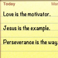 Love is the motivator.