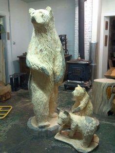 big bear carving