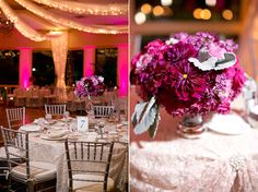 Don't love the flowers but the pink and the tulle on the ceiling...