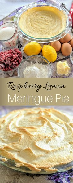 Homemade Raspberry Lemon Meringue Pie - Raspberry Lemon Meringue Pie, a fun twist on a classic! Such a great dessert to celebrate spring! Lime Desserts, Easy No Bake Desserts, Great Desserts, Dessert Recipes, Lemon Meringue Cheesecake, Cheesecake Recipes, Pie Recipes, Raspberry Recipes, Raspberry Food