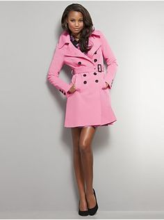 Belted double-breasted trench coat, NY & Co $99.95. Buying this tomorrow