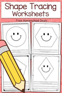 This is a post by Free Homeschool Deals contributor, Lauren from Mama& Learning Corner. My children have always loved tracing, and my current is Preschool Curriculum, Preschool Printables, Math Activities, Preschool Activities, Kindergarten, Preschool Shapes, Free Printables, Homeschooling Resources, Classroom Resources