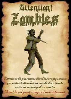 affiche zombie